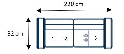 Canapé droit Palazetto 3 places