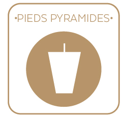 Sommiers Pieds Pyramides